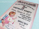 Vintage 1st Birthday Party Invitations 1950 S Style Retro Vintage Baby S 1st Birthday
