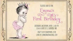 Vintage 1st Birthday Party Invitations Vintage Birthday Invitations Ideas – Bagvania Free