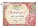 Vintage Bridal Shower Invitations Etsy Bridal Shower Invitations Etsy Template