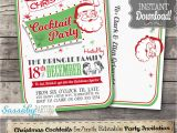 Vintage Cocktail Party Invitations Retro Christmas Cocktail Party Invitation