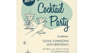 Vintage Cocktail Party Invitations Retro Cocktail Party Invitations Zazzle Com