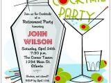 Vintage Cocktail Party Invitations Retro Martini Cocktail Party Invitations Paperstyle