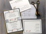 Vintage Hollywood Wedding Invitations Art Deco Elegant Script Wedding Invitations Old Hollywood
