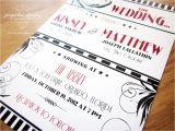 Vintage Hollywood Wedding Invitations Kinsey Matthew 39 S Old Hollywood Wedding Invitations
