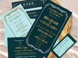 Vintage Hollywood Wedding Invitations Old Hollywood Glamour Wedding Invitation by