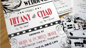 Vintage Hollywood Wedding Invitations Tiffany Chad 39 S Old Hollywood Glam Invites Jacqueline
