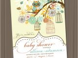 Vintage Owl Baby Shower Invitations Owl Baby Shower Invitation Birdcage Retro Vintage Birds