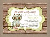 Vintage Owl Baby Shower Invitations Owl Baby Shower Invitation Owl Baby Shower Rustic