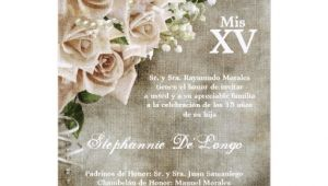 Vintage Quinceanera Invitations 5×7 Vintage Roses Quinceanera Birthday Invitation 5 Quot X 7