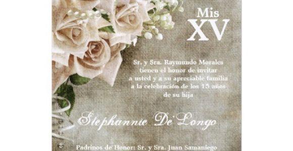 Vintage Quinceanera Invitations 5×7 Vintage Roses Quinceanera Birthday Invitation 5 Quot X 7