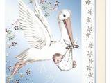 Vintage Stork Baby Shower Invitations Vintage Blue Stork Baby Boy Shower Invitations 5 25