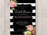 Vintage Style Bridal Shower Invitations Bridal Shower Invitation Vintage Inspired Black and White