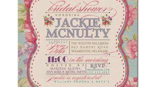 Vintage Style Bridal Shower Invitations Invitations Templates Vintage Wedding Shower Invitations