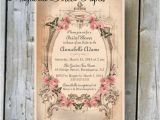 Vintage Style Bridal Shower Invitations Printable Bridal Shower Invitation Custom Printable