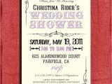 Vintage Style Bridal Shower Invitations Vintage Style Wedding Shower 4×6 Invitation Printable by