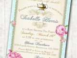 Vintage Tea Party Baby Shower Invites Baby Shower Invitation Diy Tea Party Baby Shower Invitations