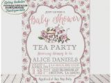 Vintage Tea Party Baby Shower Invites Baby Shower Invitation Luxury Vintage Tea Party Baby