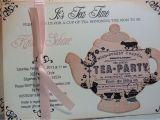 Vintage Tea Party Baby Shower Invites Bridal Shower Tea Party Invitations Bridal Shower Tea