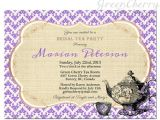 Vintage Tea Party Baby Shower Invites Items Similar to Tea Party Invitation Retro Vintage
