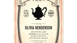 "Vintage Tea Party Baby Shower Invites Vintage Baby Shower Tea Party Invitations 5"" X 7"