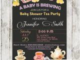 Vintage Tea Party Baby Shower Invites Vintage Floral Baby Shower Tea Party Invitation