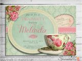 Vintage Tea Party Baby Shower Invites Vintage Tea Cup Bridal Shower Baby Shower Birthday