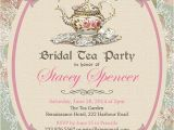 Vintage Tea Party Baby Shower Invites Vintage Tea Party Invitation Bridal by