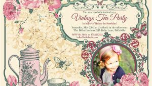 Vintage Tea Party Invitation Template 9 Vintage Invitation Templates Psd Eps Ai Free