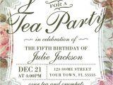 Vintage Tea Party Invitations Free Birthday Tea Party Invitation Template Vintage Rose Tea