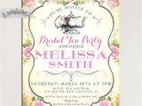 Vintage Tea Party Invitations Free Bridal Shower Tea Party Invitations Vintage Style Pink
