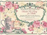 Vintage Tea Party Invitations Free Free Vintage Tea Party Invitation Template
