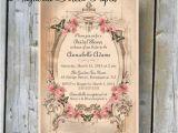 Vintage themed Bridal Shower Invitations Printable Bridal Shower Invitation Custom Printable