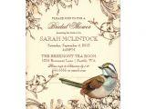 Vintage themed Bridal Shower Invitations Vintage Swirls Bridal Shower Bird theme 5×7 Paper