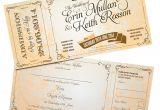 Vintage Ticket Style Wedding Invitations Vintage Ticket Style Wedding Invites Wedfest