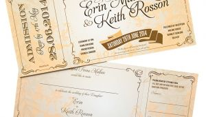 Vintage Ticket Style Wedding Invitations Vintage Ticket Style Wedding Invites Wedfest