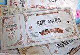 Vintage Ticket Style Wedding Invitations Vintage Ticket Wedding Invitations Wedfest