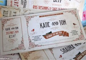 Vintage Ticket Style Wedding Invitations Vintage Ticket Wedding Invitations Wedfest