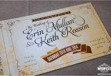 Vintage Ticket Style Wedding Invitations Vintage Ticket Wedding Invites Wedfest