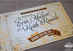 Vintage Ticket Style Wedding Invitations Vintage Ticket Wedding Invites Wedfest
