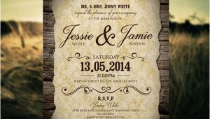 Vintage Wedding Invitation Template 23 Vintage Wedding Invitation Free Psd format Download