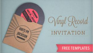 Vinyl Record Party Invitation Template totally Free totally Rockin 39 Diy Vinyl Record Wedding
