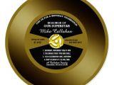 Vinyl Record Party Invitation Vinyl 45 Gold Record Birthday Party Invitation Zazzle