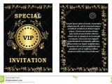 Vip Party Invitations Template Golden Vip Invitation Template Stock Vector Image 75747082