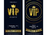 Vip Party Invitations Template Luxury Vip Invitation Cards Template Vector 05 Download