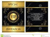 Vip Party Invitations Template Vip Invitation Card Template Stock Vector Illustration