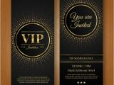Vip Party Invitations Template Vip Invitation Template Vector Free Download