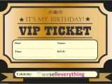 Vip Pass Birthday Invitations Free 20 Vip Ticket Invite Birthday Party Invitations Kids Boys