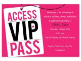 Vip Pass Birthday Invitations Free Vip Pass Invitation Template