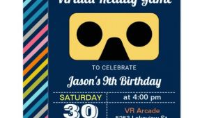 Virtual Birthday Invitation Template Vr Virtual Reality Kids Birthday Party Invitation Zazzle Com