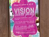 Vision Board Party Invitation Vision Board Party Invitation
